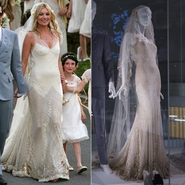 From kate moss to gwen stefani celebrity wedding dresses on the beautiful designs along with the more than 80 others on display are a part of the vas current fashion exhibit wedding dresses 1775 2014 junglespirit Images